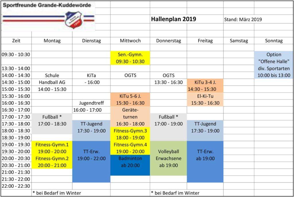 Sportfreunde Grande-Kuddewörde Hallenplan